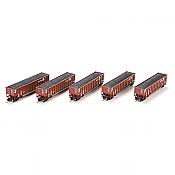 Athearn 97496 HO BerthGon with Coal Load ConRail CR #1 set - 5 Car set