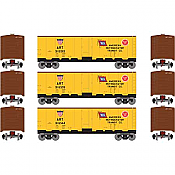 Athearn Roundhouse HO 2194 40ft Steel Reefer ART 3 Pack