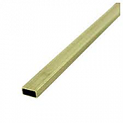 K&S Engineering 8266 All Scale - 5/32inch x 5/16inch Rectangular Brass Tube - 12inch long x 0.014inch Thick