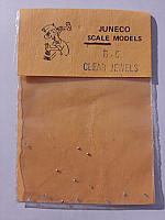 Juneco Scale Models B-6 - HO 3/4in Clear Jewels (12/pkg)