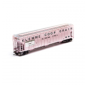 Athearn 81997 HO RTR FMC 4700 Covered Hopper, Klemme Co-op Grain Dakota, Minnesota and Eastern Railroad DM&E #810001