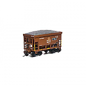 Athearn RND87124 HO - 24Ft Ribbed Ore Car w/Load - DM&IR #52977