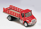 Boley 4123-11 HOAmerican Truck - 2001 International 2-Axle Stakebed Truck Red Cab & Body