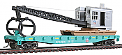 Walthers Trainline 1783 - HO Flatcar w/Logging Crane - Union Pacific #14936