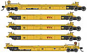 WalthersMainline 55632 HO - Thrall 5-Unit Rebuilt 40 Ft Well Car - Ready to Run - TTX - DDTX #748185 A-E