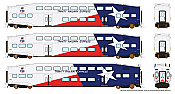 Rapido 146013 HO - BiLevel Commuter Car - Trinity Railway Express - Set #2