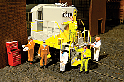 Bachmann Industries 33113 HO Railroad Personnel - Mechanics pkg(6)