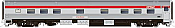 Rapido 119014 HO Scale - Budd Manor Sleeper Action Red Scheme - CPR, No Number/Name