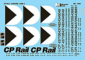 Microscale Inc. 4339 - HO - Mini-Cal Cabooses - Canadian Pacific - CP Rail Decals (1969+)
