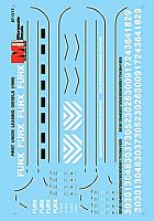 Microscale 87-1117 HO First Union Rail (FURX) - Leasing Diesels
