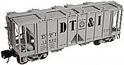 Atlas O Scale 2 Rail 70 Ton Covered Hopper Detroit Toledo & Ironton #11855