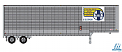 Trainworx 80325-03 HO 40' Drop-Frame Van Semi Trailer - Santa Fe #205046