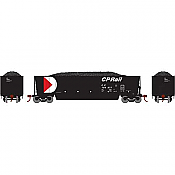 Athearn RTR 29600 - HO Bathtub Gondola w/Load - CP Rail/Black #799677