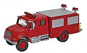 Walthers SceneMaster - 11893 HO International 4900 First Response Fire Truck - Assembled- Red