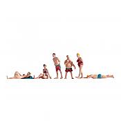 Noch 15841 - HO Sunbathers Standing & Lying (6 pkg)
