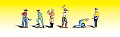 Woodland Scenics 2148 - N Scenic Accent Figures - Track Workers (6/pkg)