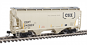 Walthers 7535 HO Scale - 39Ft Trinity 3281 2-Bay Covered Hopper - CSX Transportation CSXT #242822