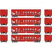 Athearn 14269 HO RTR 40ft OB Ballast Hopper/Load RJ Corman 4pk Set 2