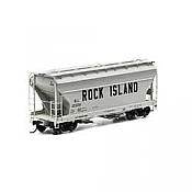 Athearn RTR 93995 - HO ACF 2970 Covered Hopper - Rock Island (3pk)