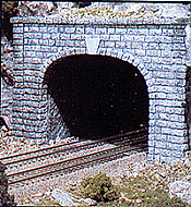 Woodland Scenics 1257 HO Tunnel Portal (Hydrocal Plaster Casting) Cut Stone - Double Track