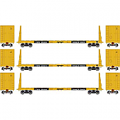 Athearn 90556 HO - RTR 60Ft Bulkhead Flatcar TT Early 3 Pack