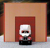 Herpa Models HO 6322 Single-Bay Modern Warehouse (Plastic Kit) - Sand