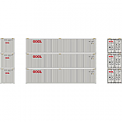 Athearn 27161 - HO 40ft Low-Cube Container - OOCL (3/pkg)