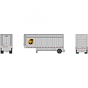 Athearn RTR 90209 HO 28ft Parcel Trailer - UPS with Shield #292246