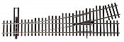 Walthers Track 83013 - HO Code 83 Nickel Silver DCC Friendly # 4 Turnout - Left Hand