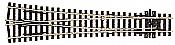 Peco Code 100 SL 98 Streamline Large Radius Wye Turnout, Insulfrog HO Scale Track