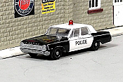 Sylvan Scale Models 283 HO Scale - 1964 Dodge Police Car - Unpainted and Resin Cast Kit