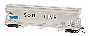 Intermountain Railway 47089-01 HO ACF 4650 Cubic Foot 3-Bay Hopper - Soo Line ICE #50309