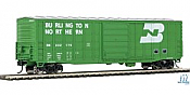 Walters Mainline HO 2321 50 Ft Waffle side Boxcar Burlington Northern No.332152