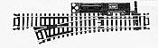 Atlas Model Railroad Code 100 Manual Snap-Switch w/ Nickel-Silver Rail & Black Ties Left