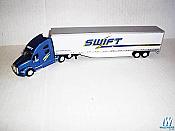 Trucks N stuff 95211 HO Kenworth T700 with 53ft Dry Van Trailer - Assembled --  Swift Transportation (white, blue)
