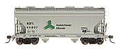 Intermountain Railway 46515-01 HO ACF Center Flow 2-Bay Hopper - Saskatchewan Minerals - ACFX #44743