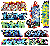 Blair Line 2261 HO Lasercut Graffiti Decals Set #12