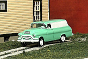 Sylvan Scale Models 318 HO Scale - 1955-56 GMC 1/2 Ton Panel Van - Unpainted and Resin Cast Kit
