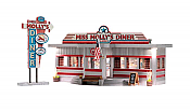 Woodland Scenics 4956 - N Mollys Diner- Built & Ready Landmark Structures - Assembled