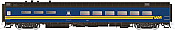 Rapido Trains 124009 HO Scale Pullman-Standard Lightweight Diner-Lounge VIA Rail Canada #1338 Pre Order