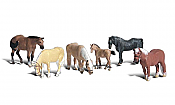 Woodland Scenics 1862 HO Farm Horses 6 pcs