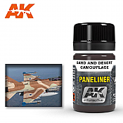 AK Interactive 2073 Air Series  Panel Liner Sane and Desert Camouflage  Enamel Paint 35ml