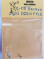Juneco Scale Models C-115 Back Up Light - DPGM Pyle Single w/jewels, plastic (2/pkg)