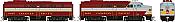 Rapido 37008 - HO Alco FA-1 & FB-1 Set - DCC Ready - Canadian Pacific (Block Scheme) #4026, 4415
