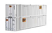 Kato 309022 HO 53 Ft Intermodal Container (2 pkg) EMP #637285  - 637136