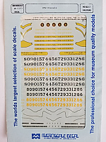 Microscale Railroad Decal 87-103 GTW Diesels