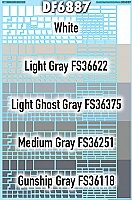SmokeBox Graphics DF6887 - HO Straight-Edged Gray Paint Out Blanks