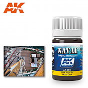 AK Interactive 301 Wood Deck Dark Wash Enamel Paint 35ml