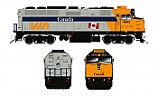 Rapido Trains 580007 - N VIA F40PH-2D - DC/Silent - Canada Scheme #6435