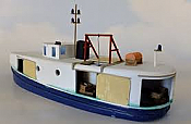 Sylvan Scale Models 1124 HO Scale -Great Lakes Fishing Tug Boat Resin Cast Kit
